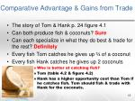 comparative advantage gains from trade