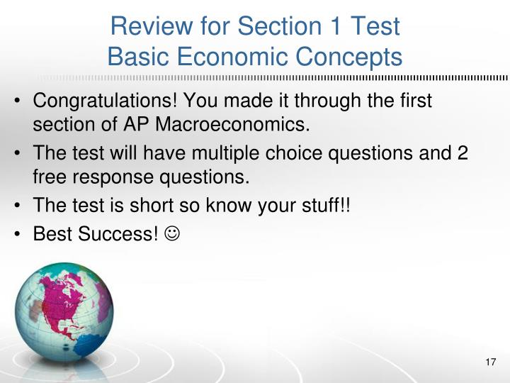 Review for Section 1 Test