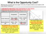 what is the opportunity cost