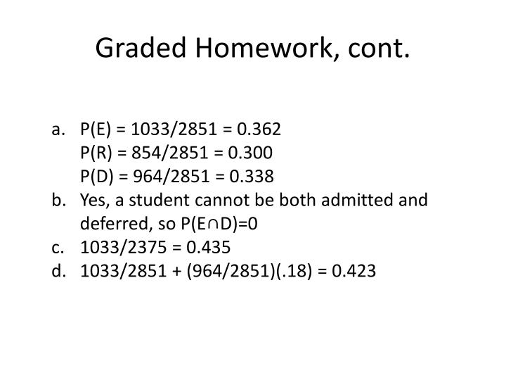 Graded homework cont1