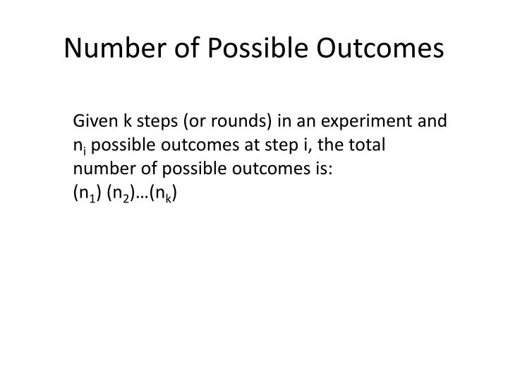 Number of Possible Outcomes