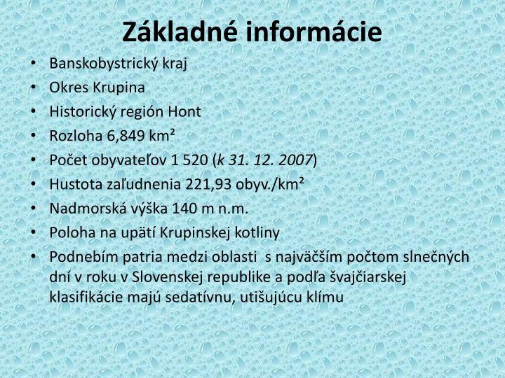 Základné informácie
