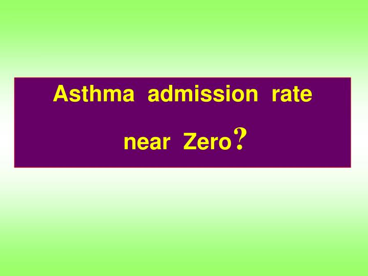 Asthma  admission  rate