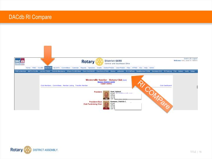 DACdb RI Compare