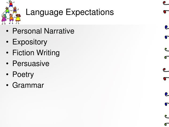 Language Expectations