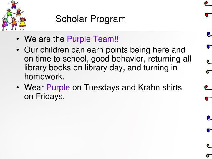 Scholar Program