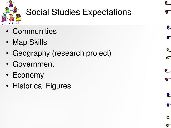 Social Studies Expectations