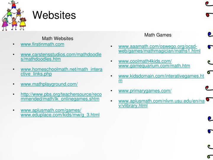 Math Websites