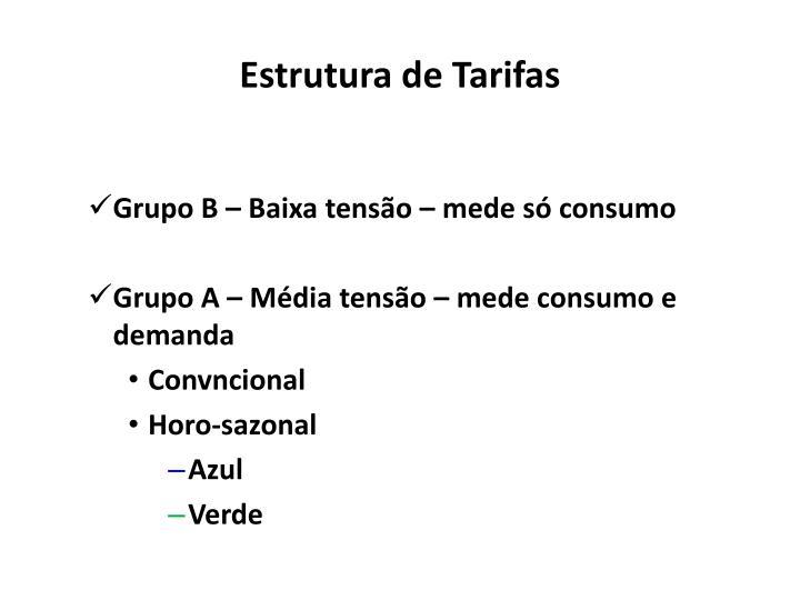 Estrutura de Tarifas