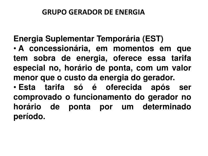 GRUPO GERADOR DE ENERGIA