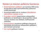 naisten ja miesten palkoista suomessa1
