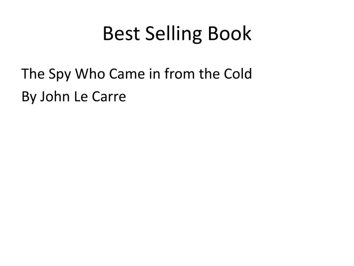 Best Selling Book