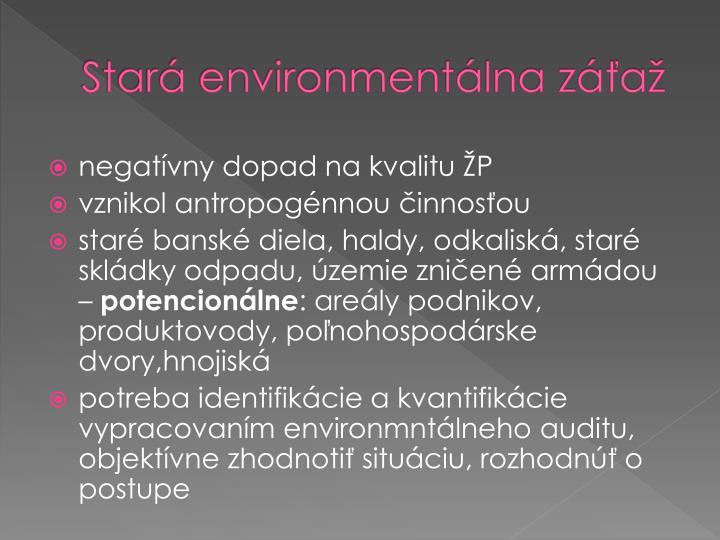 Stará environmentálna záťaž