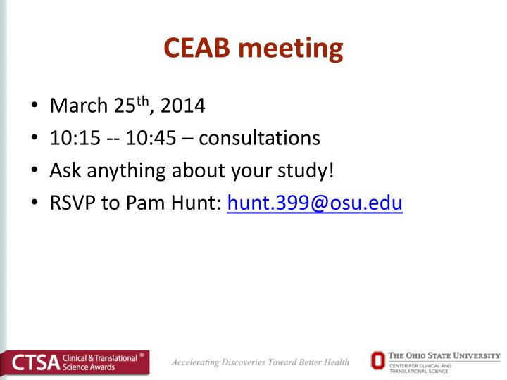 CEAB meeting