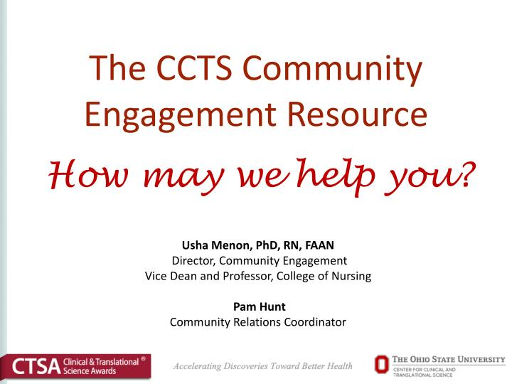 The ccts community engagement resource
