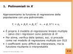 1 polinomiali in x