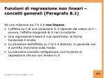 funzioni di regressione non lineari concetti generali paragrafo 8 1