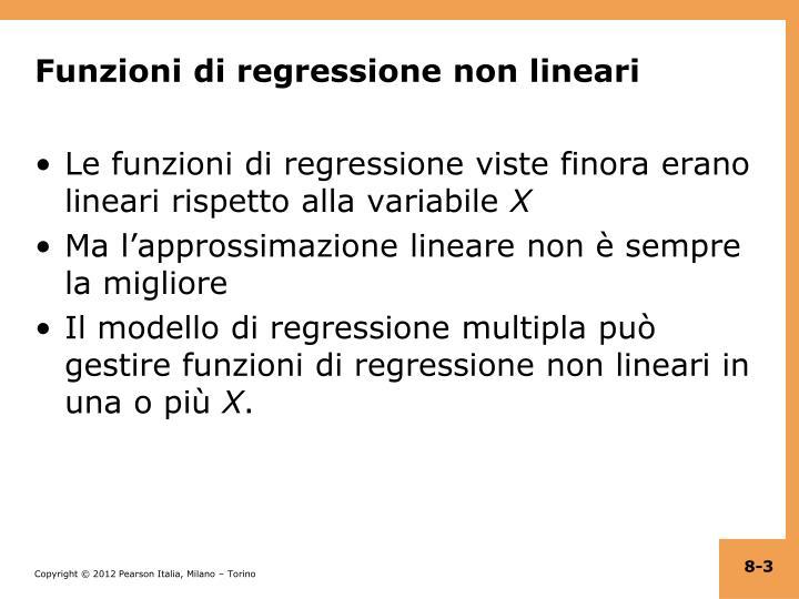 Funzioni di regressione non lineari