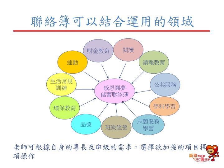 聯絡簿可以結合運用的領域