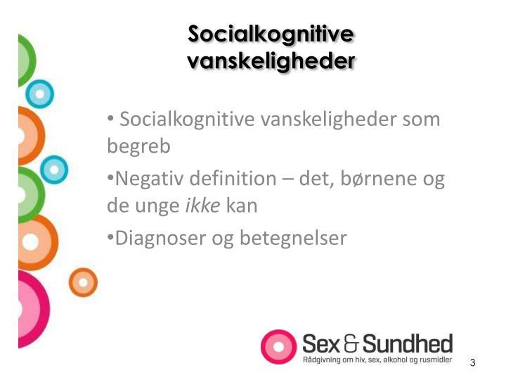 Socialkognitive vanskeligheder