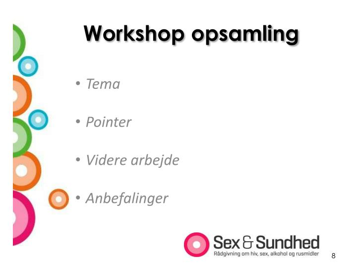 Workshop opsamling