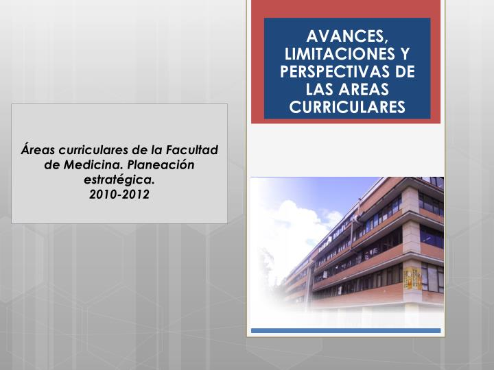 AVANCES, LIMITACIONES Y PERSPECTIVAS DE LAS AREAS CURRICULARES