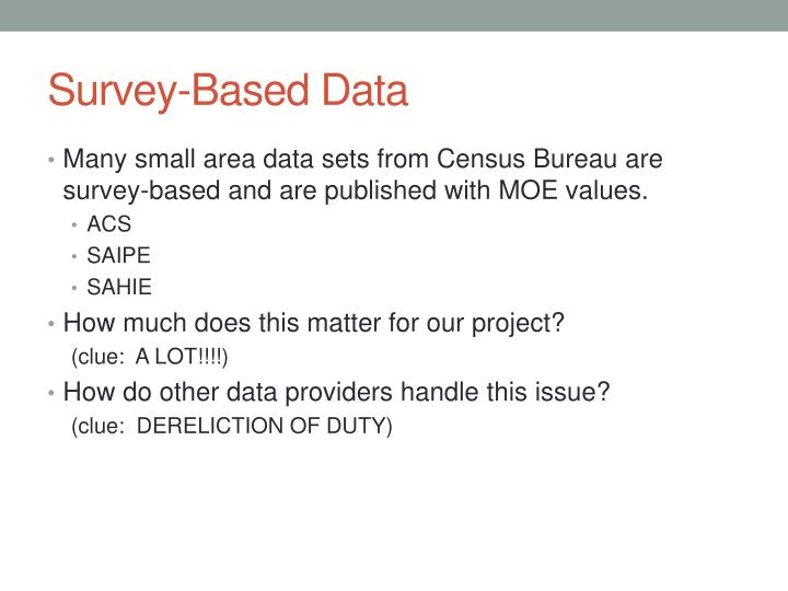 Survey-Based Data