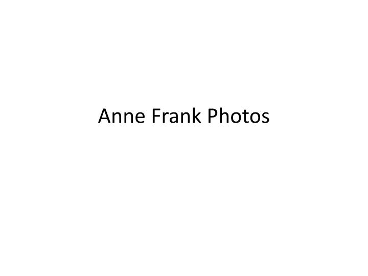 anne frank photos