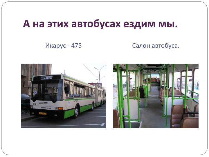 А на этих автобусах ездим мы.