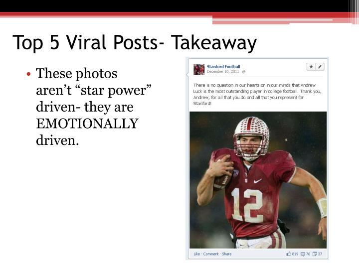 Top 5 Viral Posts- Takeaway