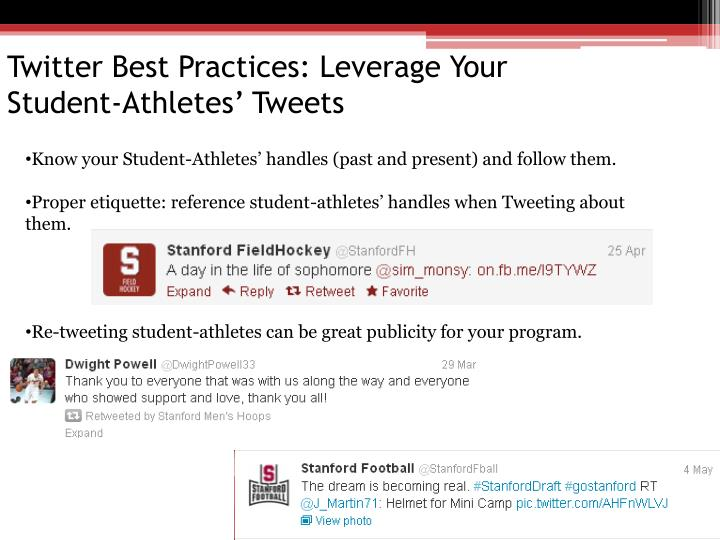 Twitter Best Practices: Leverage Your      Student-Athletes' Tweets