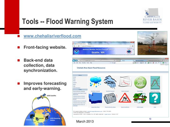 Tools -- Flood Warning System
