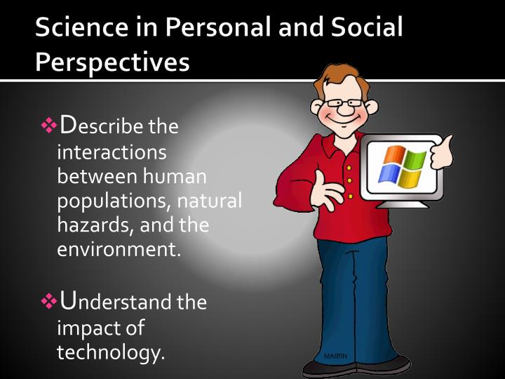 Science in Personal and Social Perspectives