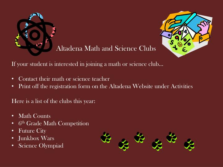 Altadena Math and Science Clubs