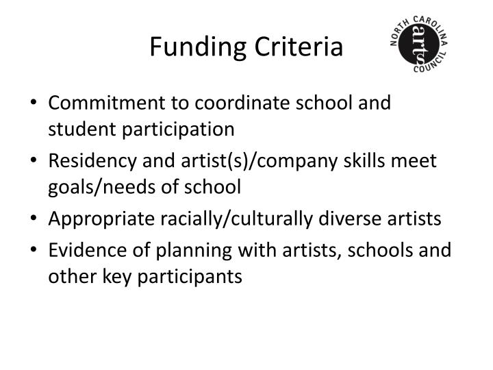 Funding Criteria