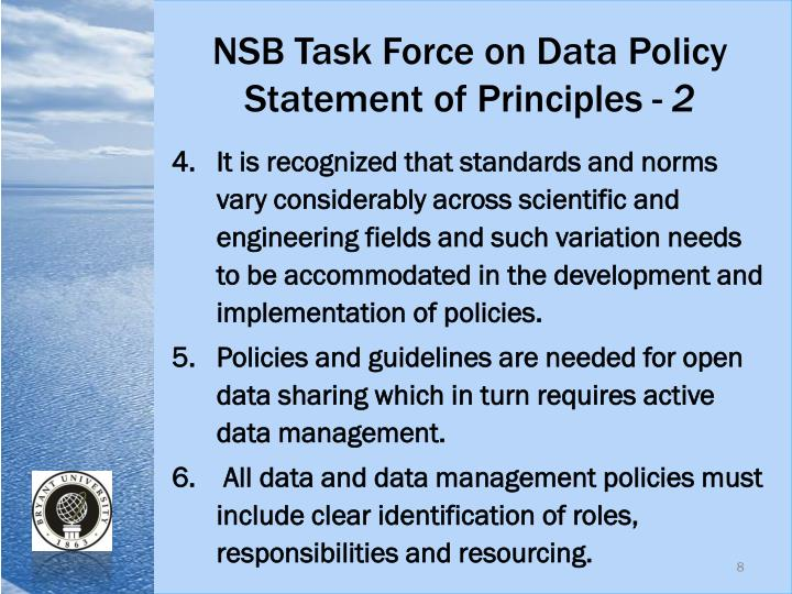 NSB Task Force on Data Policy
