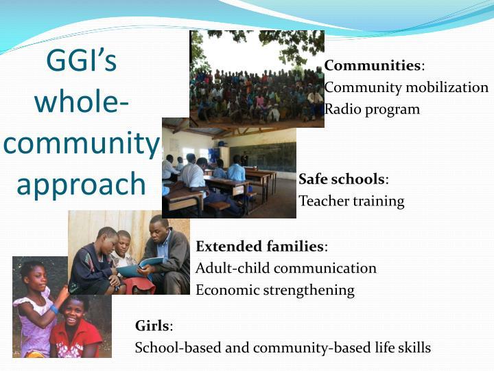 GGI's whole-community approach