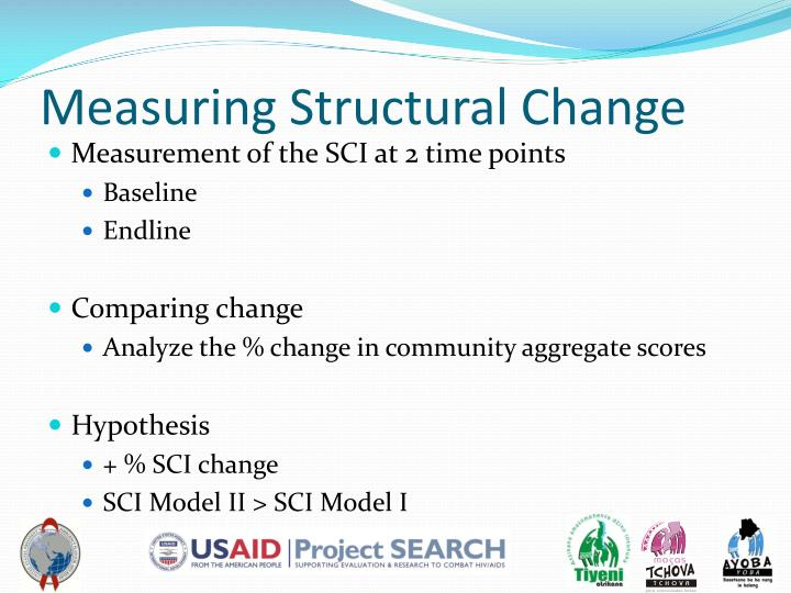Measuring Structural Change