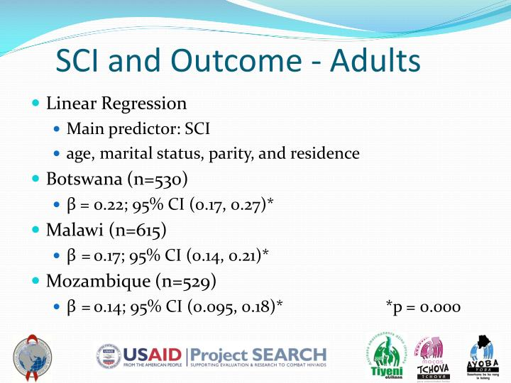 SCI and Outcome - Adults