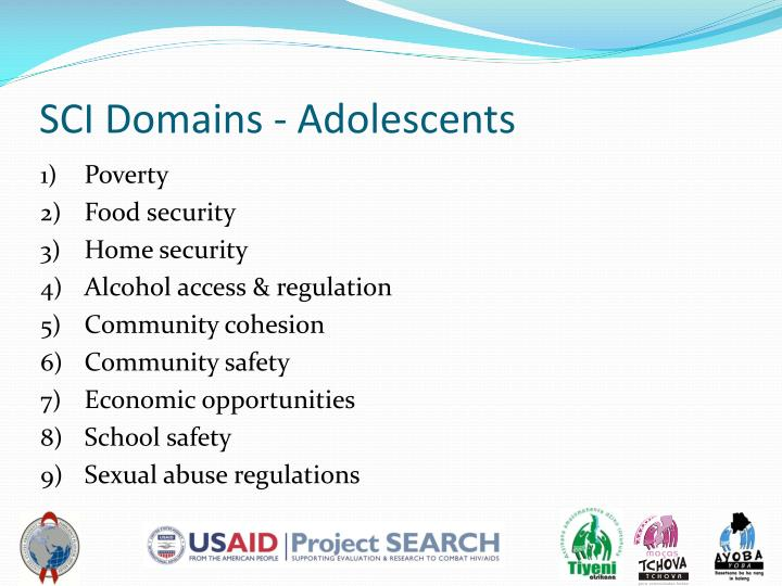 SCI Domains - Adolescents