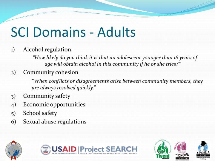 SCI Domains - Adults