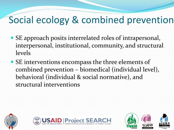 Social ecology & combined prevention