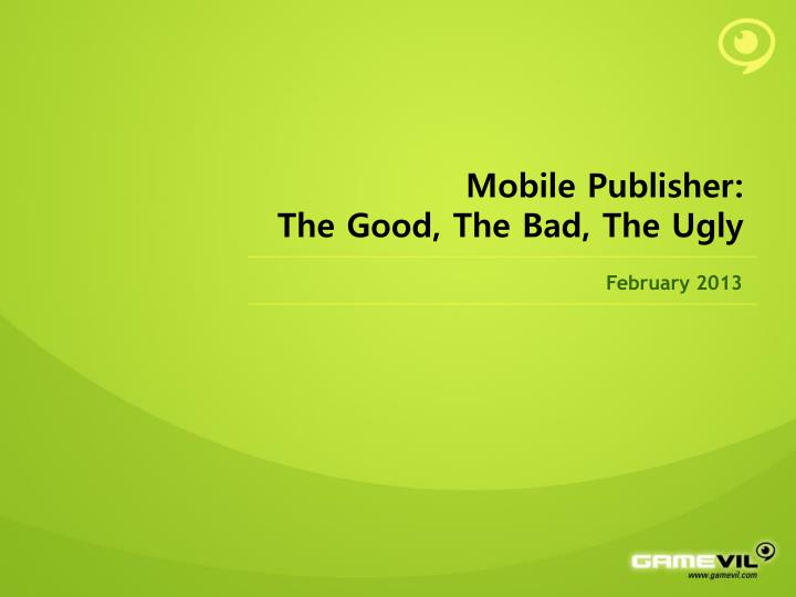 Mobile Publisher:
