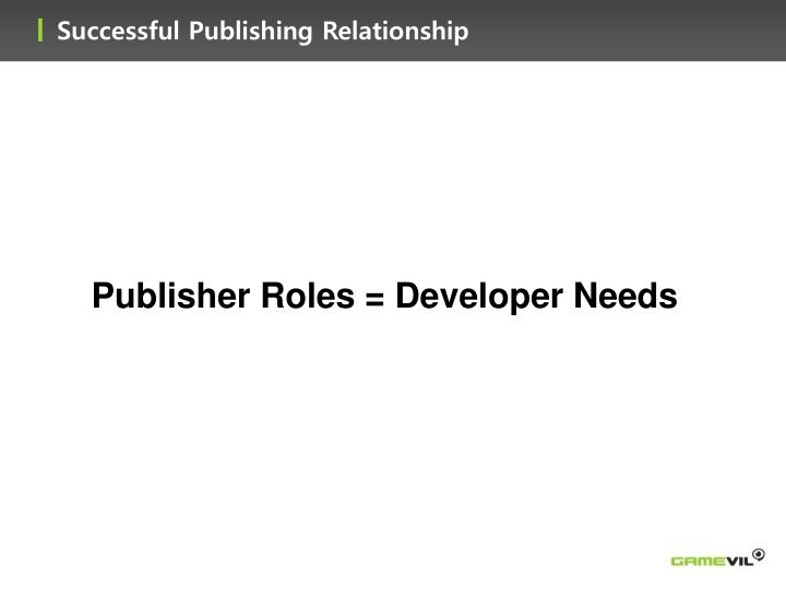 Successful Publishing Relationship