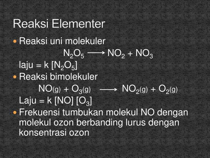 Reaksi Elementer