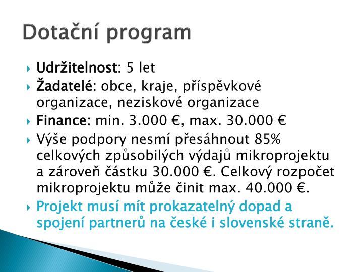 Dotační program