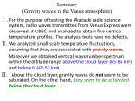 summary gravity waves in the venus atmosphere
