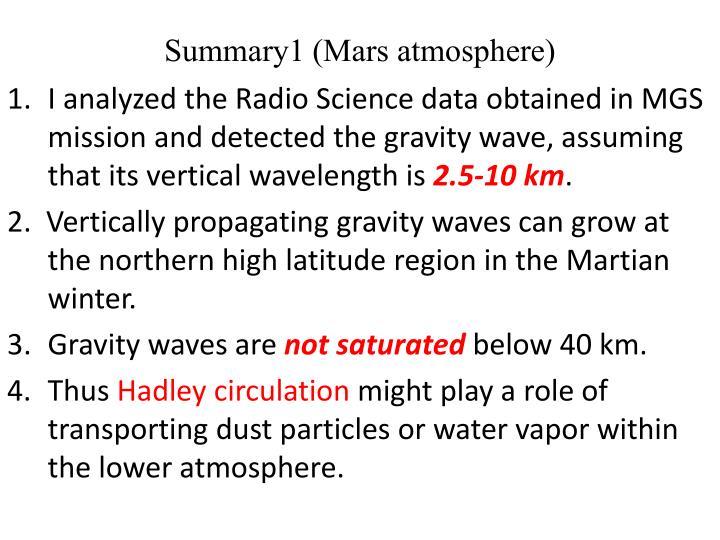 Summary1 (Mars atmosphere)