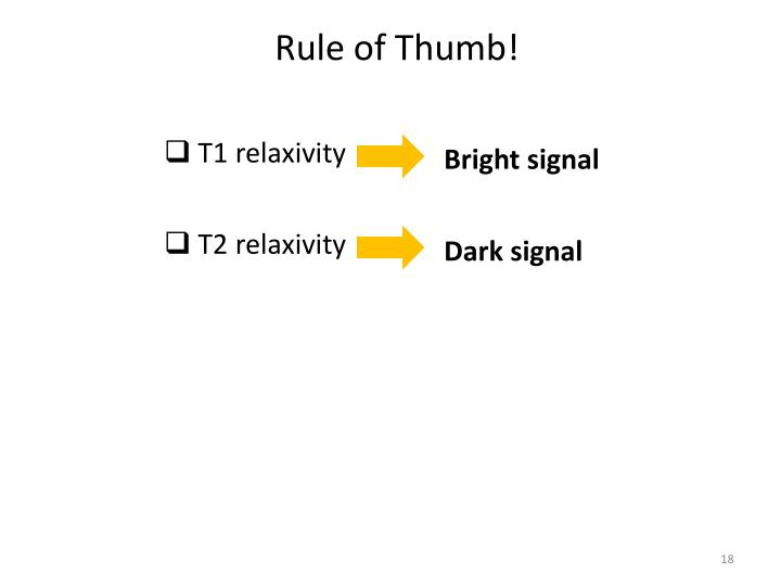 Rule of Thumb!