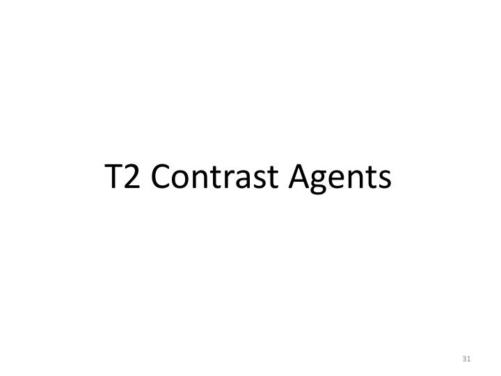 T2 Contrast Agents